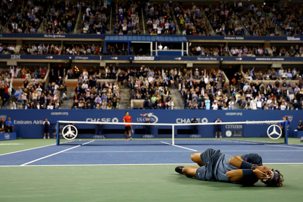 Nadal collapses after championship point at the US Open 2013 Final